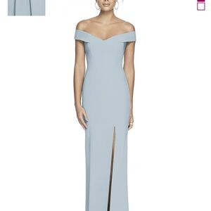 Dessy Mist Colored Bridesmaids Dress